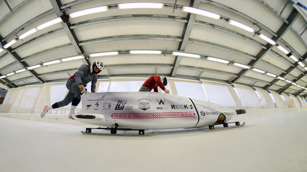 Latvijas bobsleja izlase veic pēdējos sagatavošanās darbus pirms jaunās sezonas