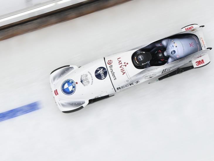 Kēnigszē Eiropas junioru čempionātā bobslejā divniekiem Cipuļa ekipāža  septītā